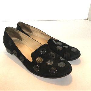 Kate Spade New York Glitter Polka Dot Loafers